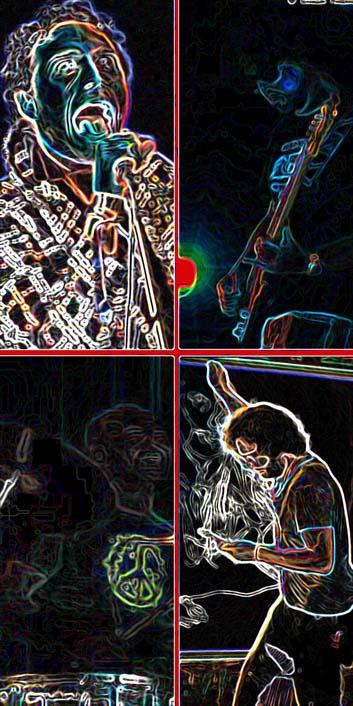 composizione psichedelic , bx