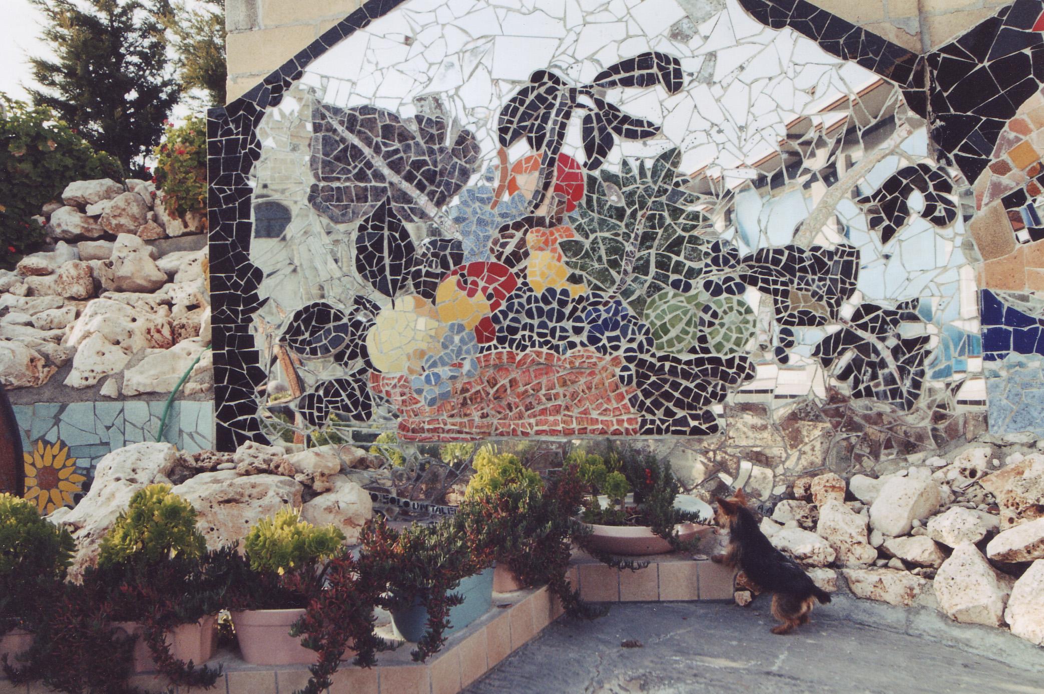 Mosaico muro esterno