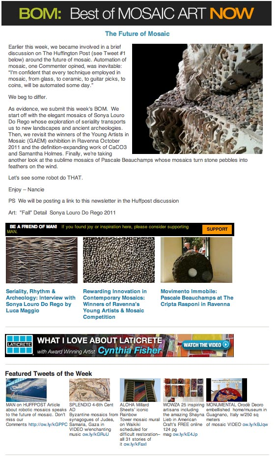 Best of Mosaic Art NOW May 5 2013