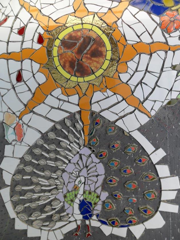 Mosaico di Orodè Deoro. Paradiso Terrestre. Casa studio Fabio Novembre,
