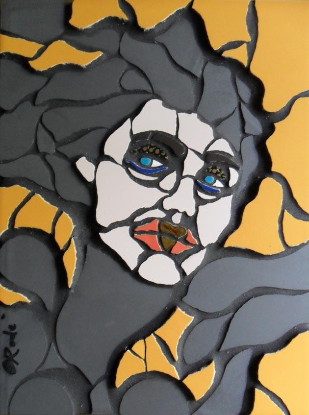 Mosaico contemporaneo Woman. 30x40. 2014 (bx)