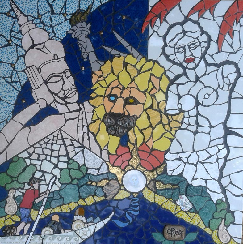 Viaggio al termine della notte.  Mosaico di Orodè Deoro