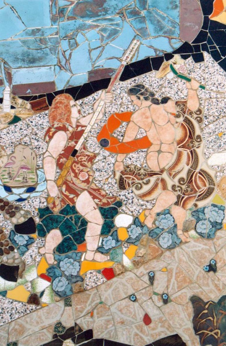 Trionfo. Mosaico di Orodè Deoro