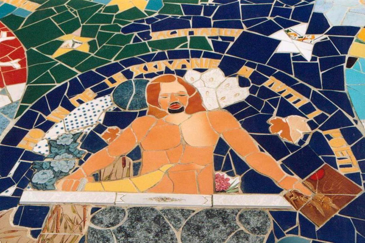 Sagittario, mosaico di Orodè Deoro