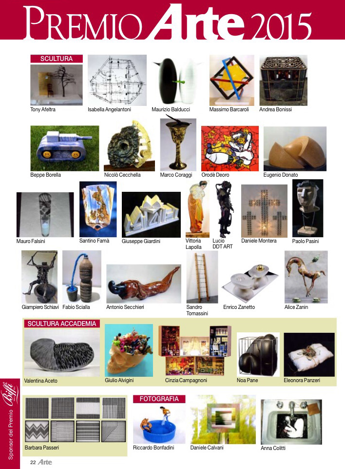 tra i 120 selezionati Premio Arte 2015