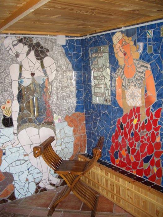 Stanza delle donne. M 6x2,5. 2001 Casa museo Vincent City, Guagnano (LE)