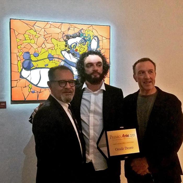 Con il direttore di Arte, Michele Bonuomo e il partner tecnico Maimeri.