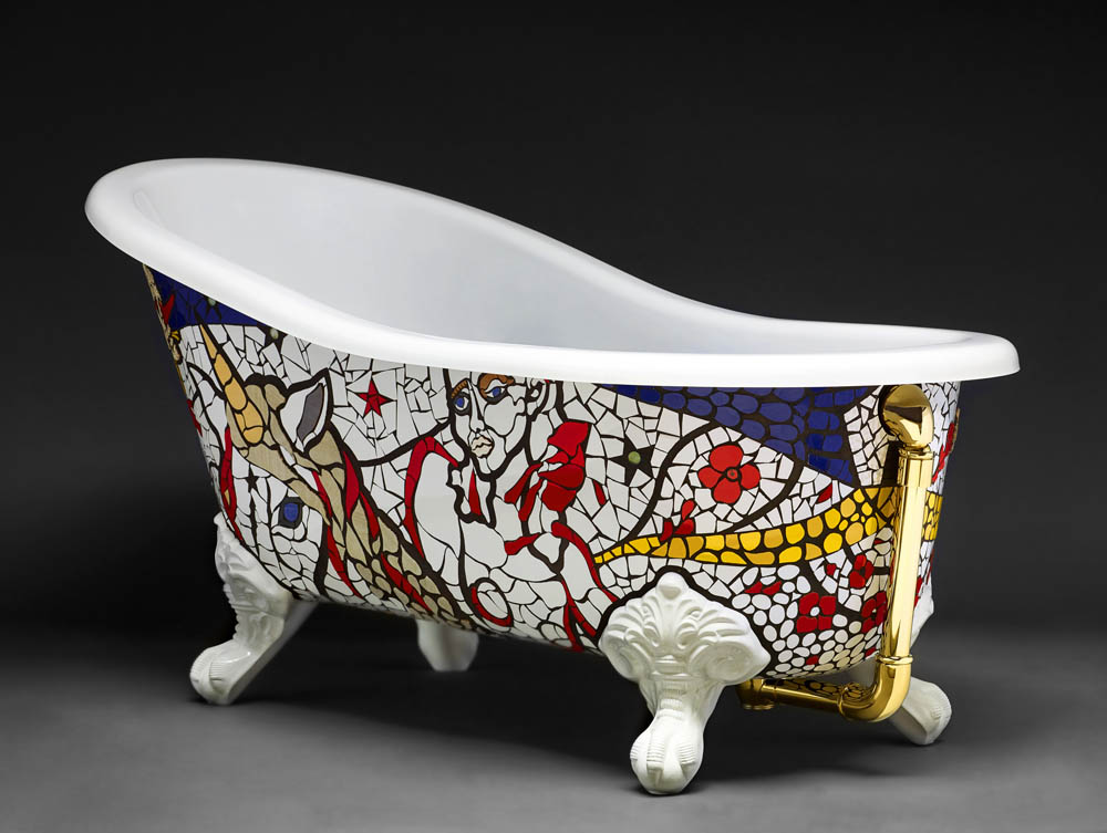 Una Vasca Da Bagno In Inglese : Light my fire vasca d artista victoria albert limited edition