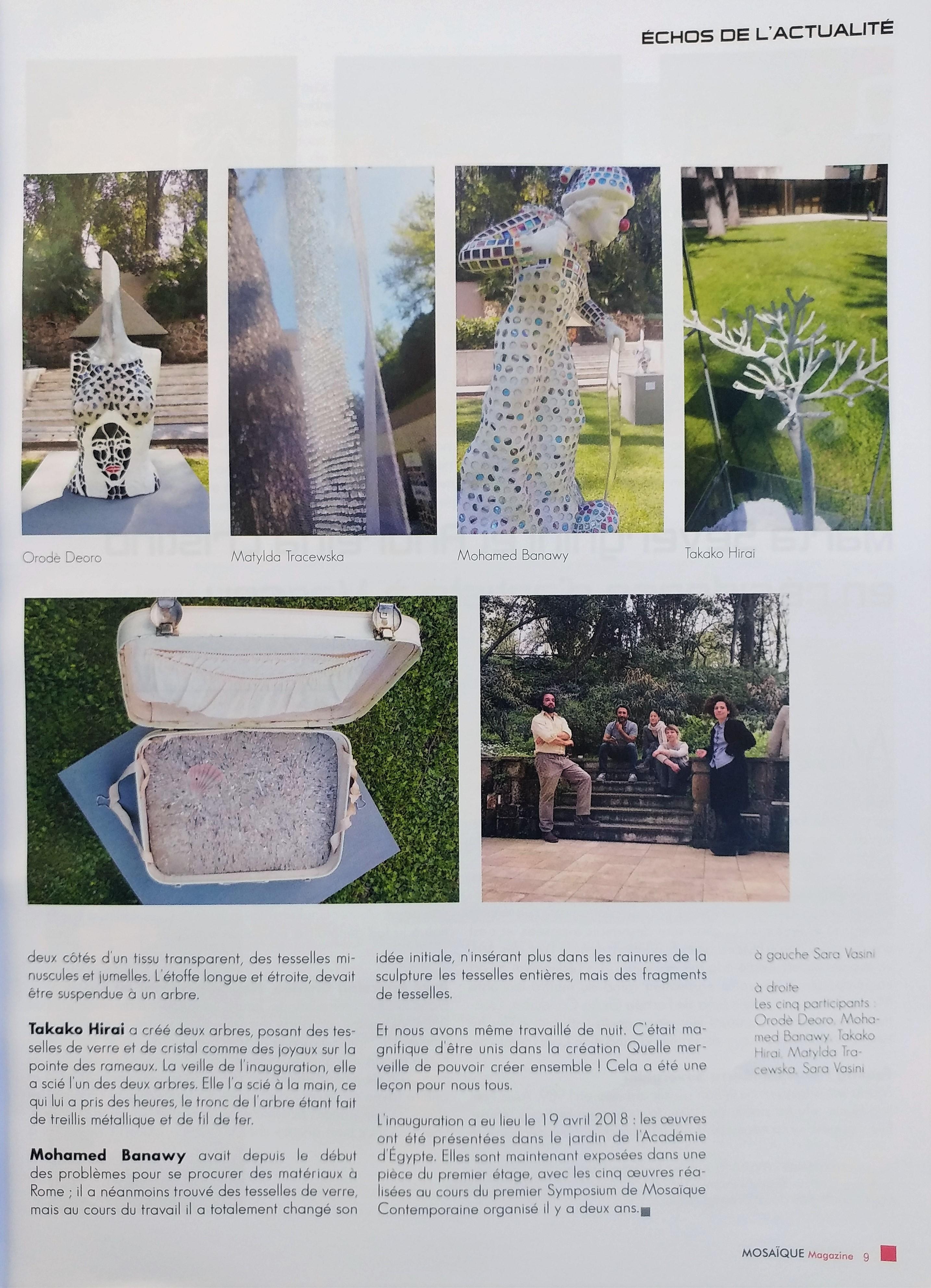 Mosaique Magazine. Ottobre 2018. Pag.9